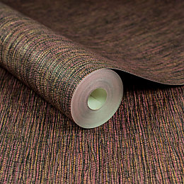 Boutique Kyoto Red Grass Cloth Textured Wallpaper
