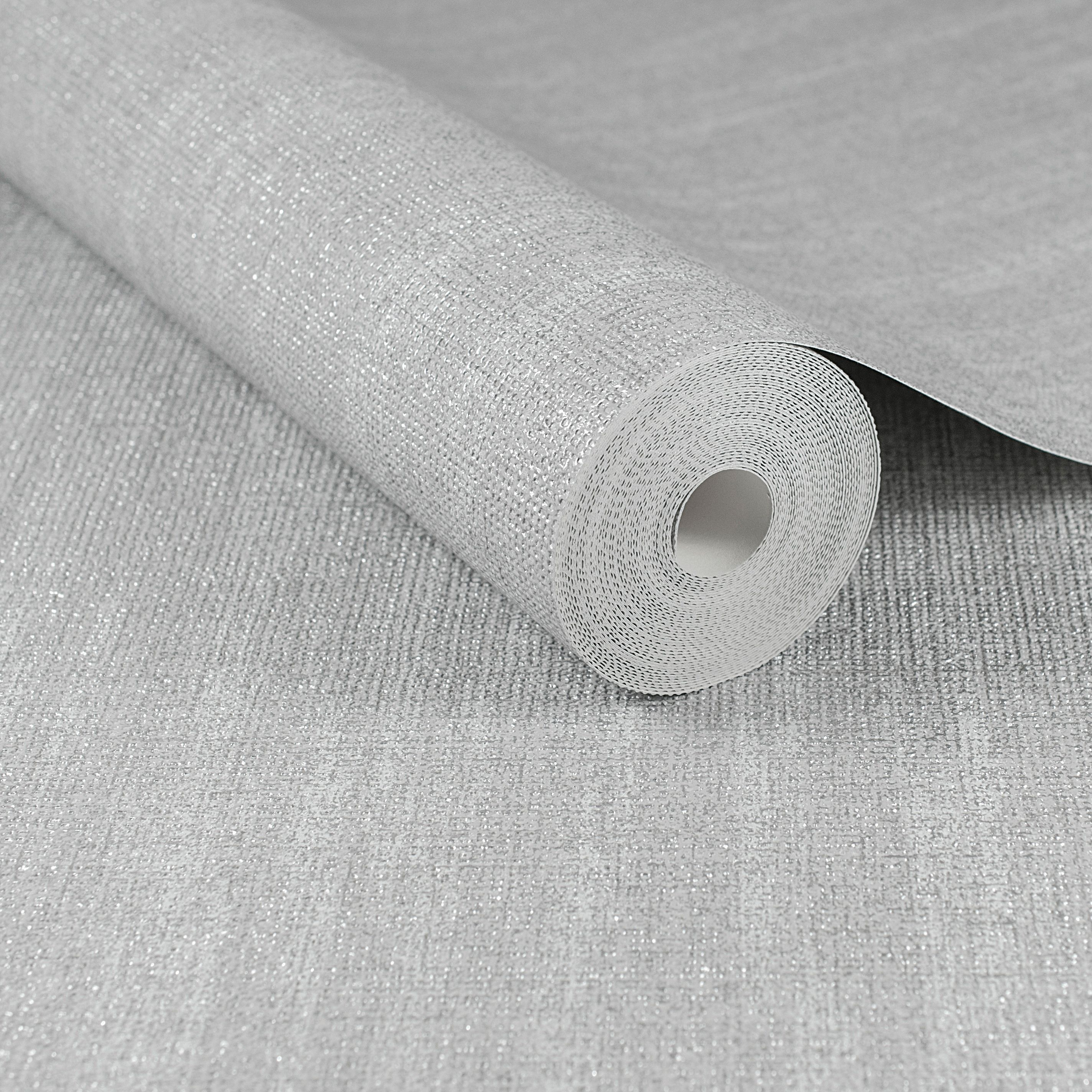 Graham Brown Boutique Silver Chenille Wallpaper Departments Diy At B Q