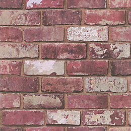 Graham & Brown Fresco Red Brick Wallpaper