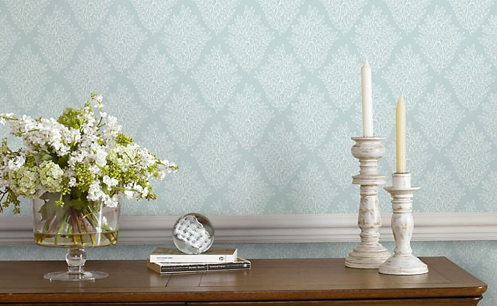 Walls papered with fresco duck egg elinor wallpaper