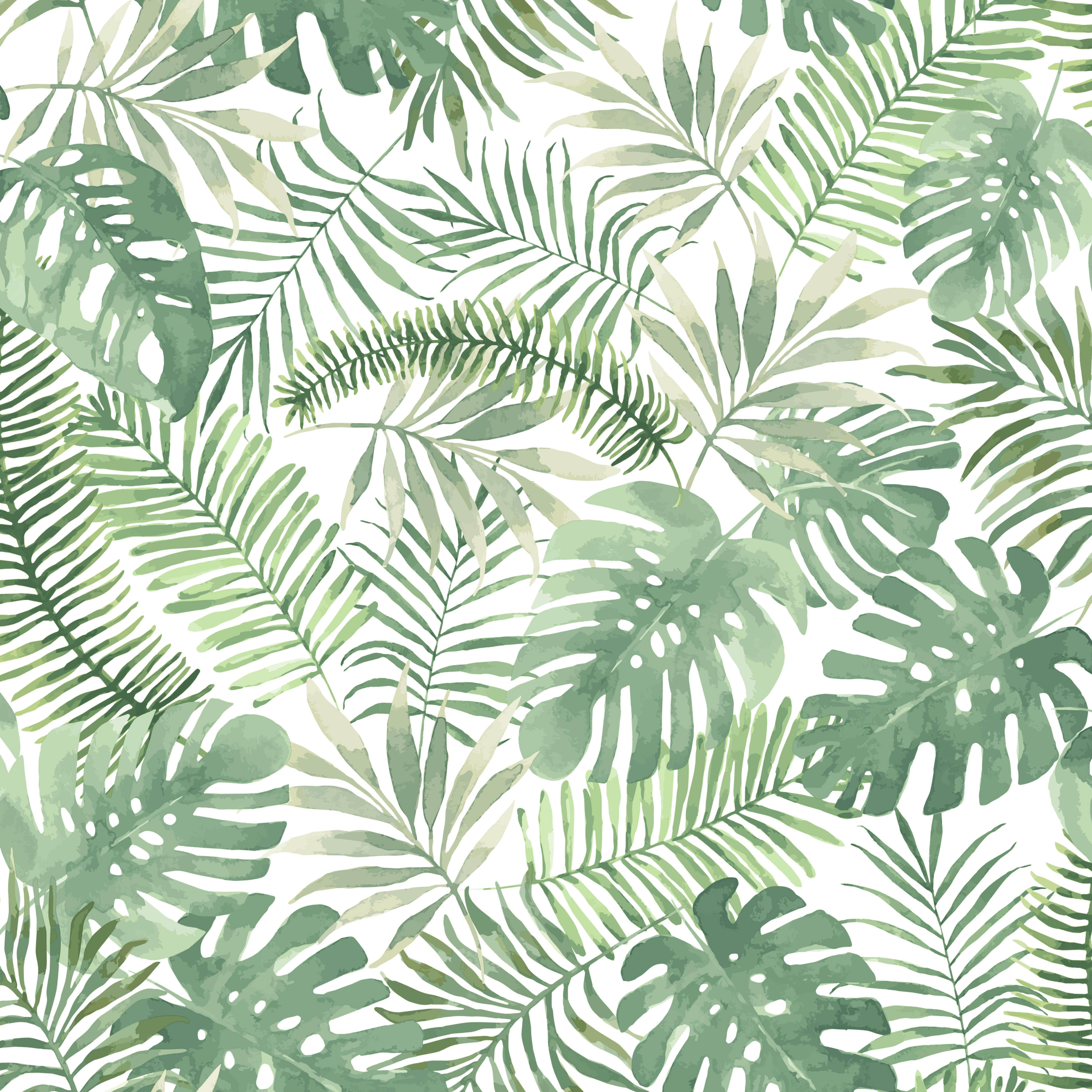 Superfresco Easy Mauritius Green Leaves Matt Wallpaper