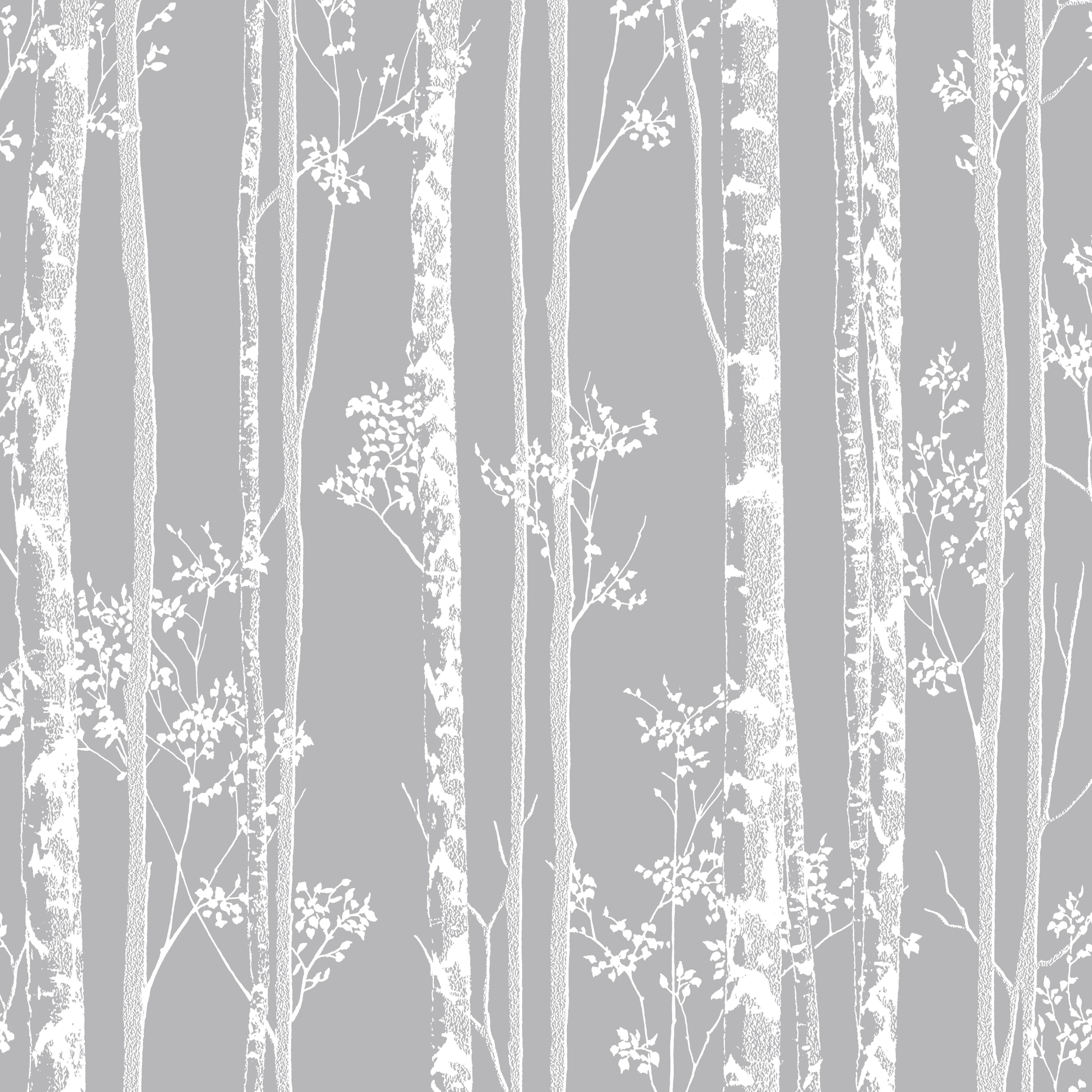 graham brown linden grey trees fibrous wallpaper departments diy at b q. Black Bedroom Furniture Sets. Home Design Ideas