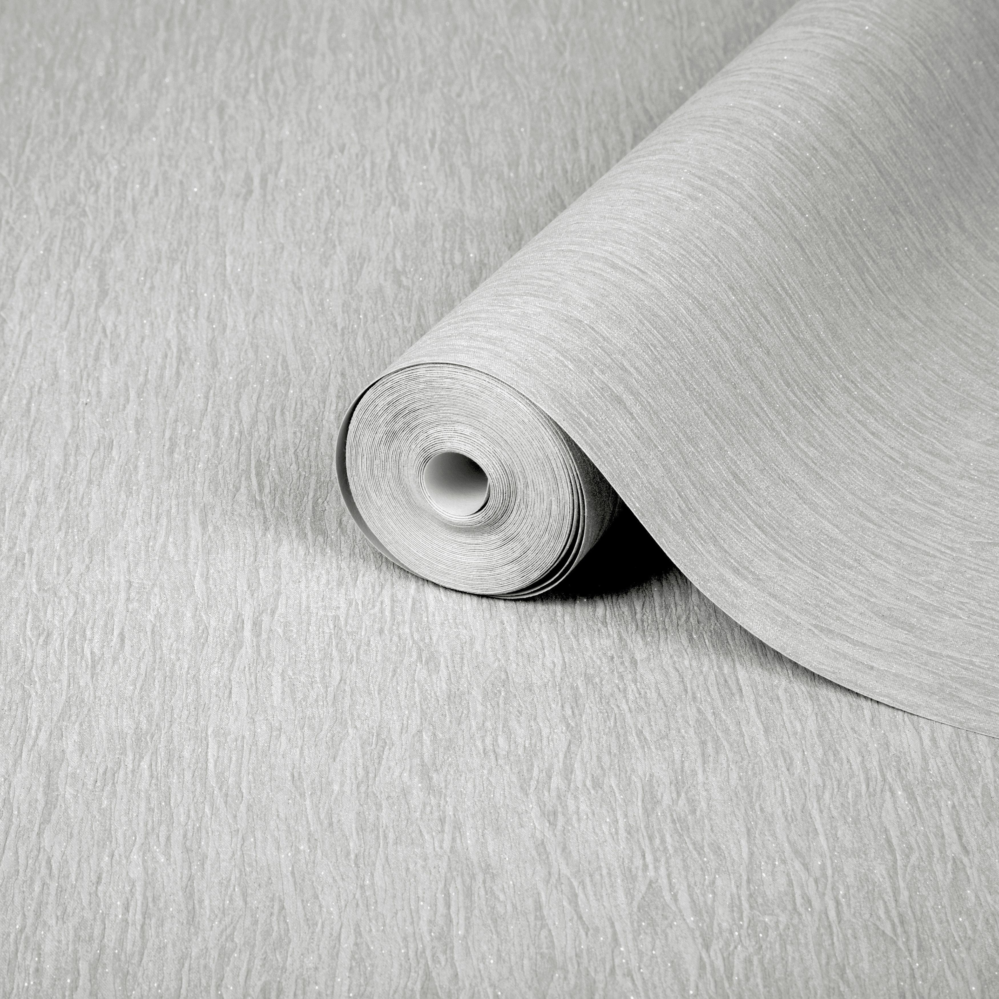 Boutique Sorrento Silver Glitter Effect Embossed Wallpaper