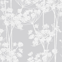 Graham & Brown Angelica Silver Trail Metallic effect