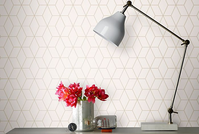 Superfresco gold geometricwallpaper