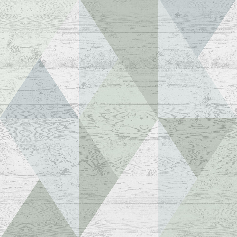 Superfresco Easy Narvik Green Amp Grey Geometric Block Wallpaper Departments Diy At B Amp Q
