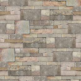 Contour Stone Sandstone Brick Wallpaper