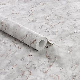Boutique Light Grey Plain & Texture Marble Effect