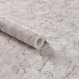 Boutique Plain & texture Rose gold marble effect