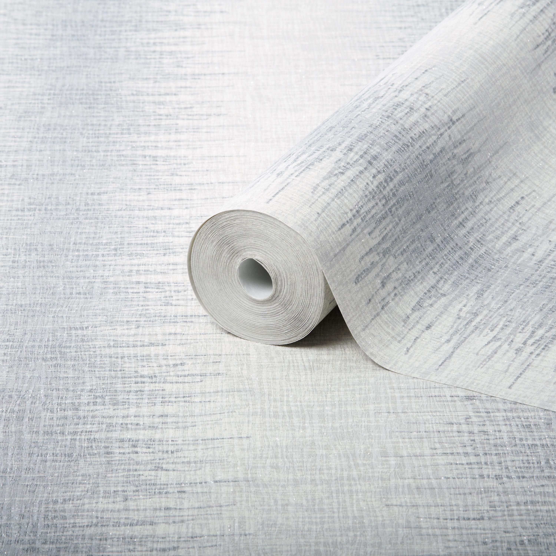 Julian Macdonald Illusion Stripe Silver Glitter Effect Wallpaper Departments Diy At B Q