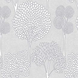 Graham & Brown Superfresco easy Grey Floral Glitter