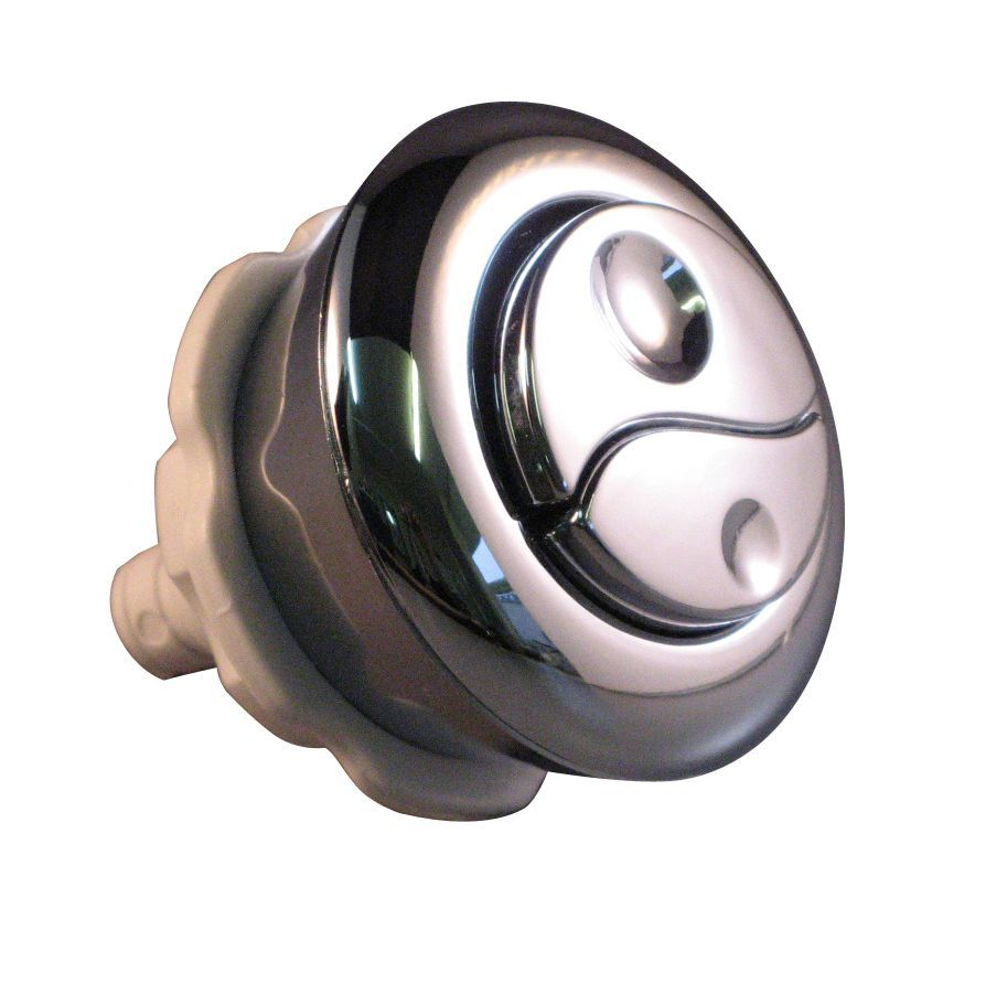 Opella Amp Diall Chrome Effect Dual Flush Replacement Button