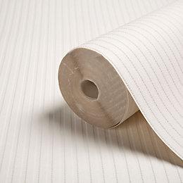 Graham & Brown Superfresco White Ribbed Paintable Wallpaper