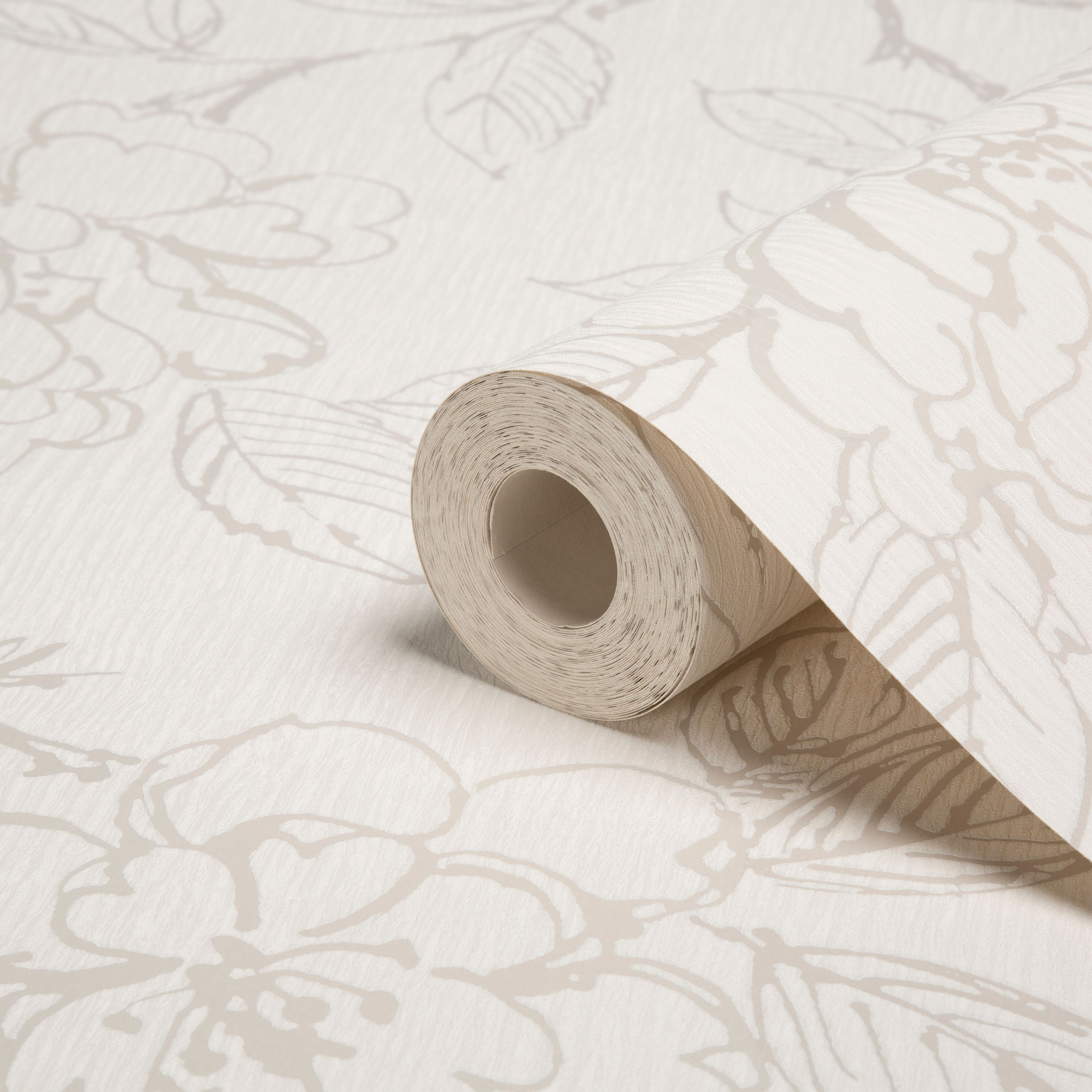Graham Brown Superfresco White Floral Wallpaper Departments Diy At B Q