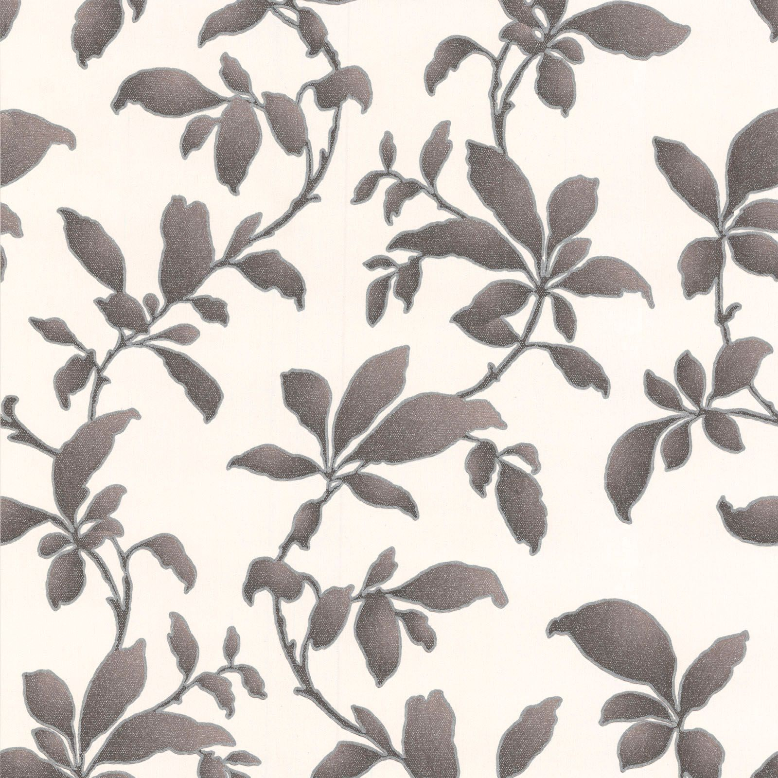 Graham brown sarra black leaves wallpaper departments for Bargain wallpaper