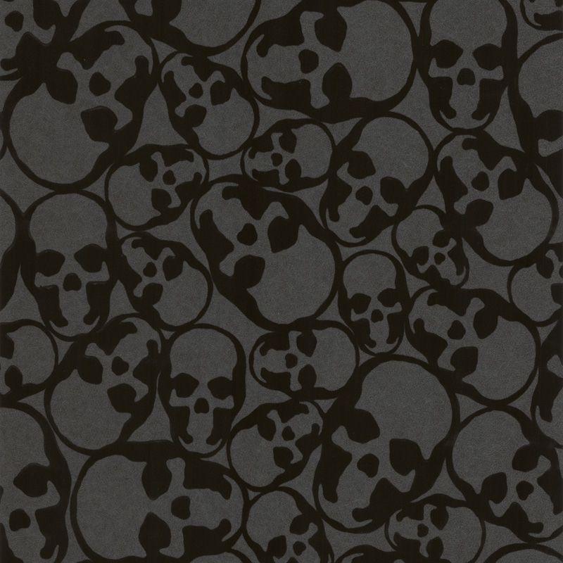 . Graham   Brown Barbara Hulanicki Midnight Skulls Wallpaper   Departments    DIY at B Q