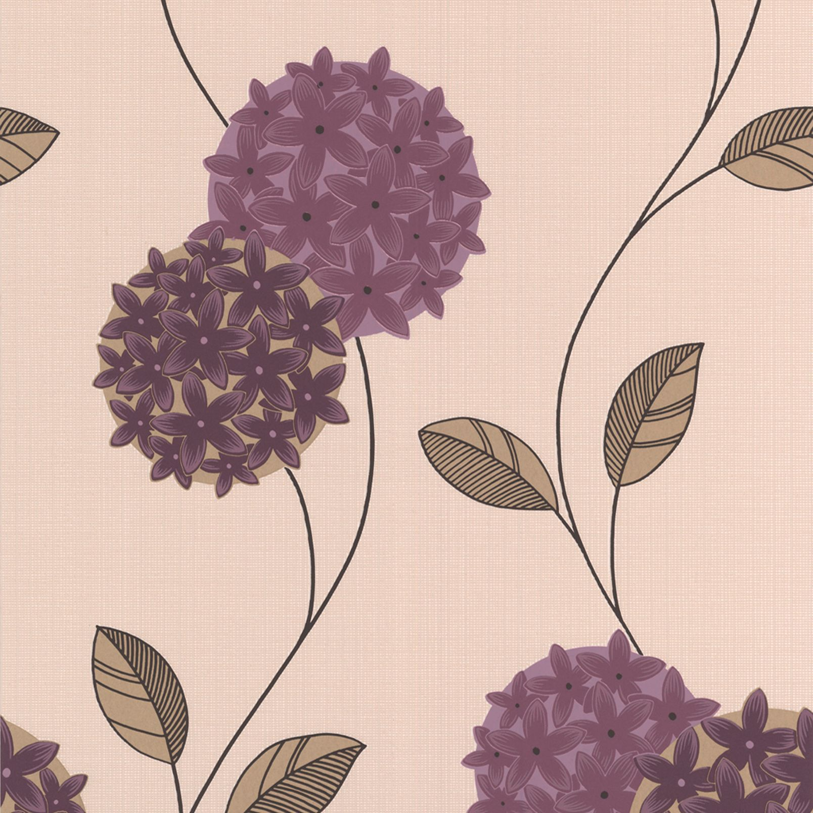 Graham Amp Brown Superfresco Cream Amp Purple Floral Wallpaper