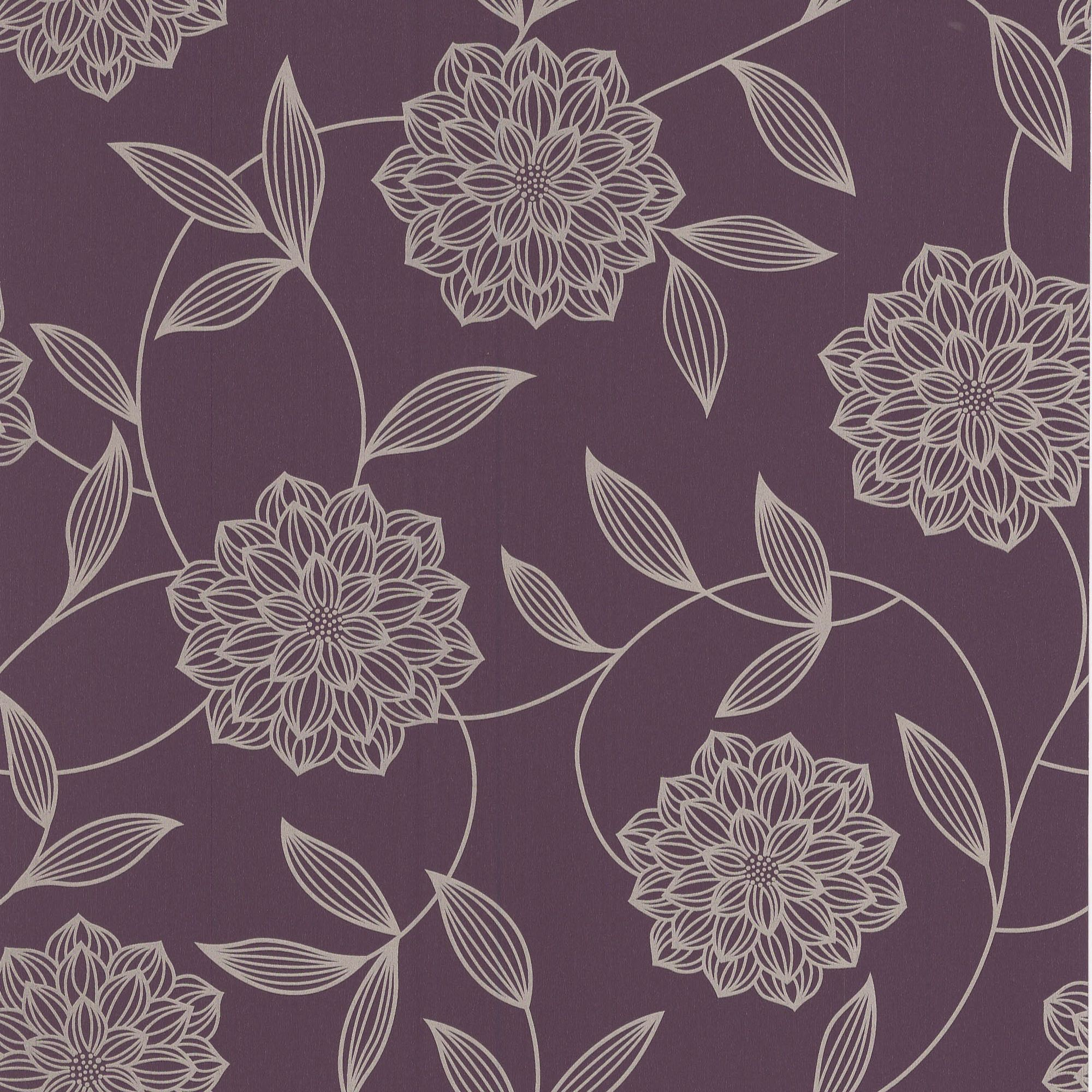Kitchen Wallpaper At B Q: Graham & Brown Superfresco Plum Floral Wallpaper