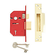 Union 64mm Brass effect 5 Lever Mortice sashlock