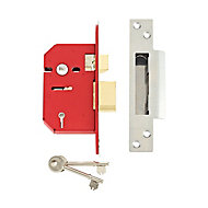 Union 64mm Stainless steel effect 5 Lever Mortice sashlock