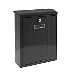 Yale Maryland Black Post box (H)330mm (W)255mm