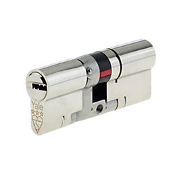 Yale 80mm Nickel plated Brass Euro cylinder lock