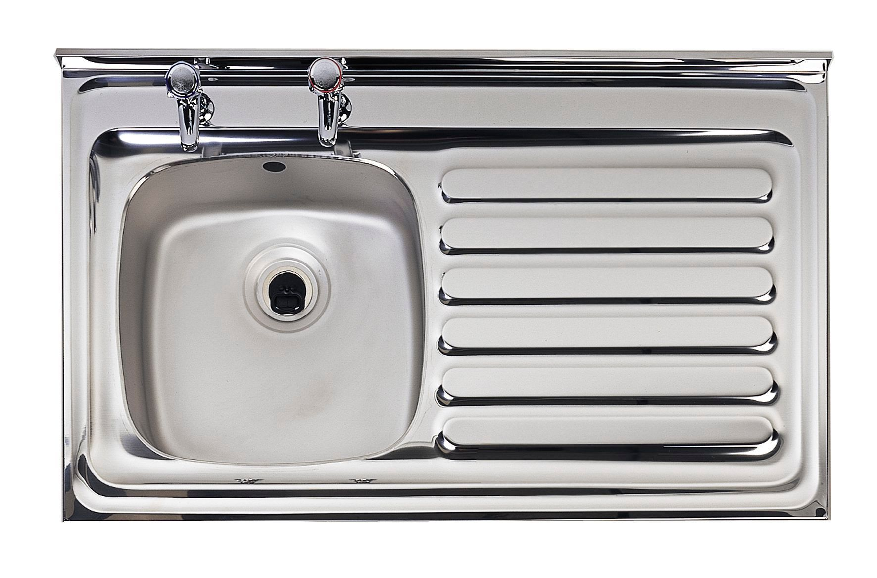 Astracast Utility 1 Bowl Polished Stainless Steel Sink & RH ...