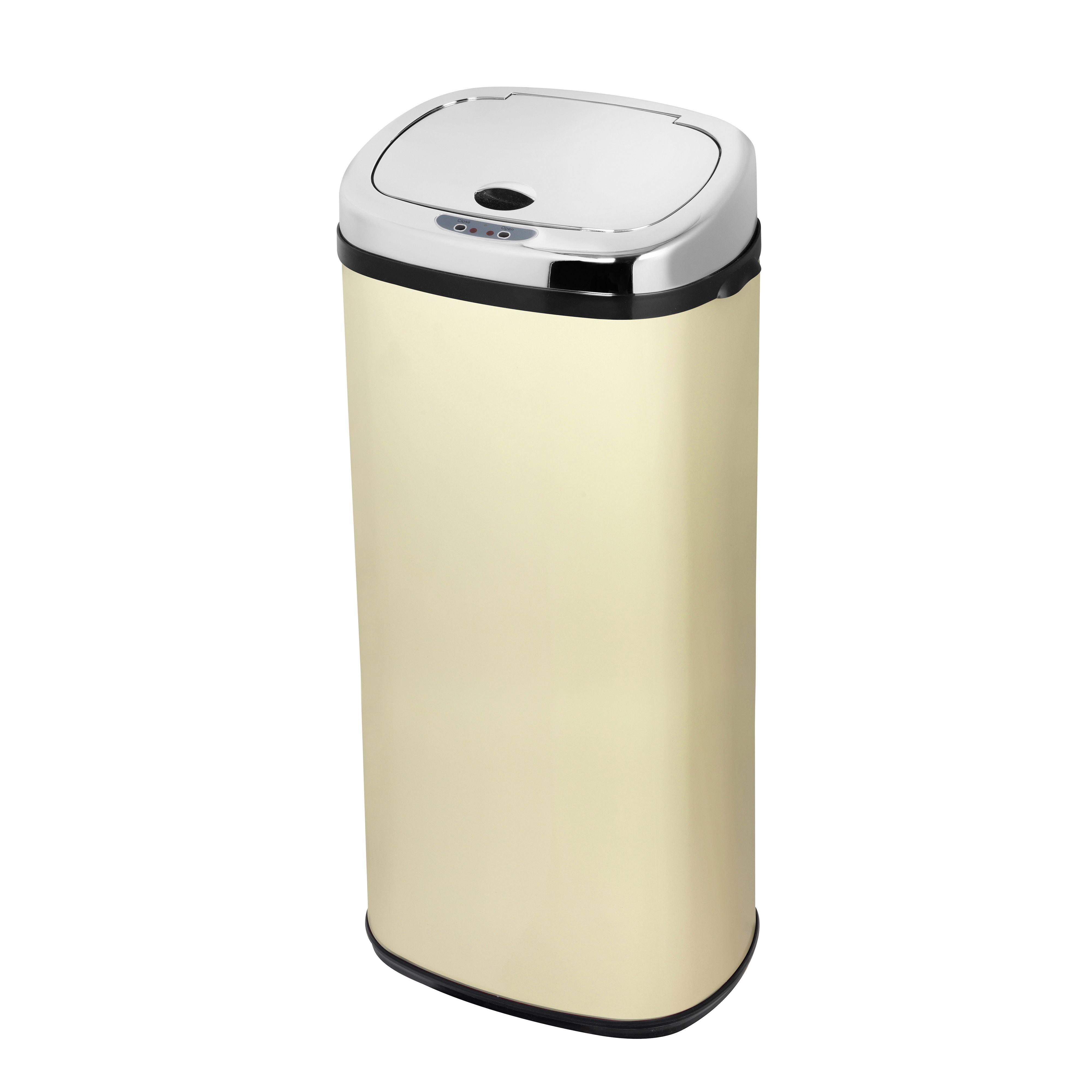 Morphy Richards Matt Cream Stainless Steel Square Sensor Bin, 50L ...