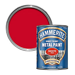 Hammerite Red Smooth Gloss Metal paint 750 ml