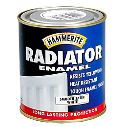 Hammerite Enamel White Satin Radiator Paint 500 ml