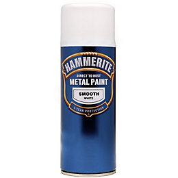 Hammerite Smoothrite White Gloss Metal Spray Paint 400