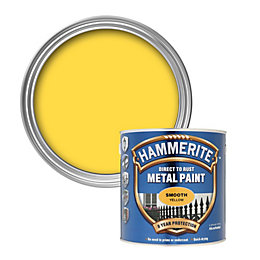 Hammerite Direct to rust Yellow Smooth Metal paint