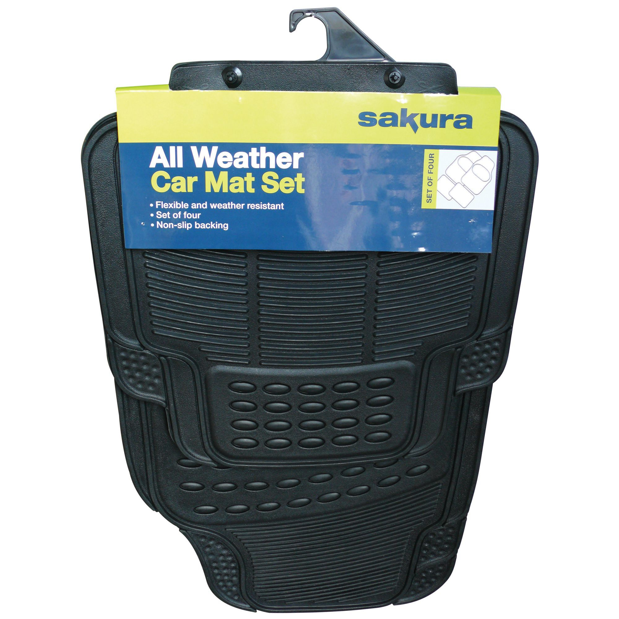 Sakura All Weather Black Car Mat Set Of 4 Departments