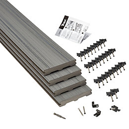 Trex® Chateau grey Composite Deck board (T)24mm (W)140mm