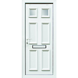 6 Panel PVCu Glazed External Front Door &