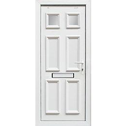 6 Panel PVCu Glazed External Front Door &