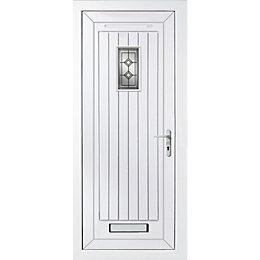 Cottage Panelled PVCu Glazed External Front Door &