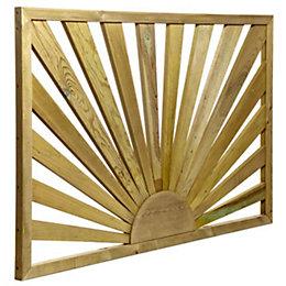 Tanalised Timber Sunburst Trellis panel (H)0.76m(W)1.13 m