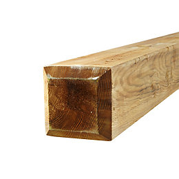 Chocci brown Softwood Post (L)1.2m