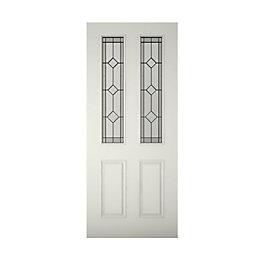 4 Panel Primed Glazed Front Door & Frame
