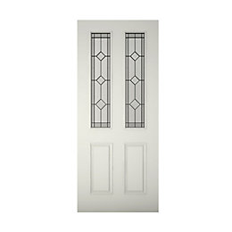 4 Panel Primed Glazed Front Door & Frame