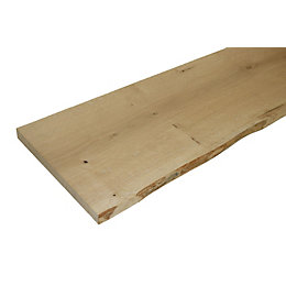 Oak Waney Edge Furniture Board (L)1200mm (W)300mm (T)25mm