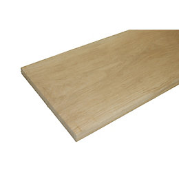 Oak Square Edge Furniture Board (L)900mm (W)210mm (T)25mm