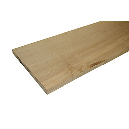 Oak Square Edge Furniture Board (L)1200mm (W)300mm (T)25mm