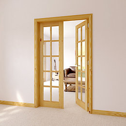 10 Lite Clear Glazed Internal French Door Set,