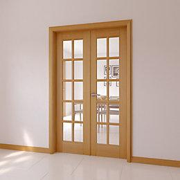 10 Lite Clear Glazed Internal French Door Set,