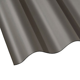 Bronze Polycarbonate Roofing Sheet 1800mm x 848mm, Pack