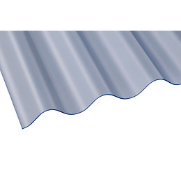 Clear Corrugated PVC Roofing Sheet 2440mm x 762mm,