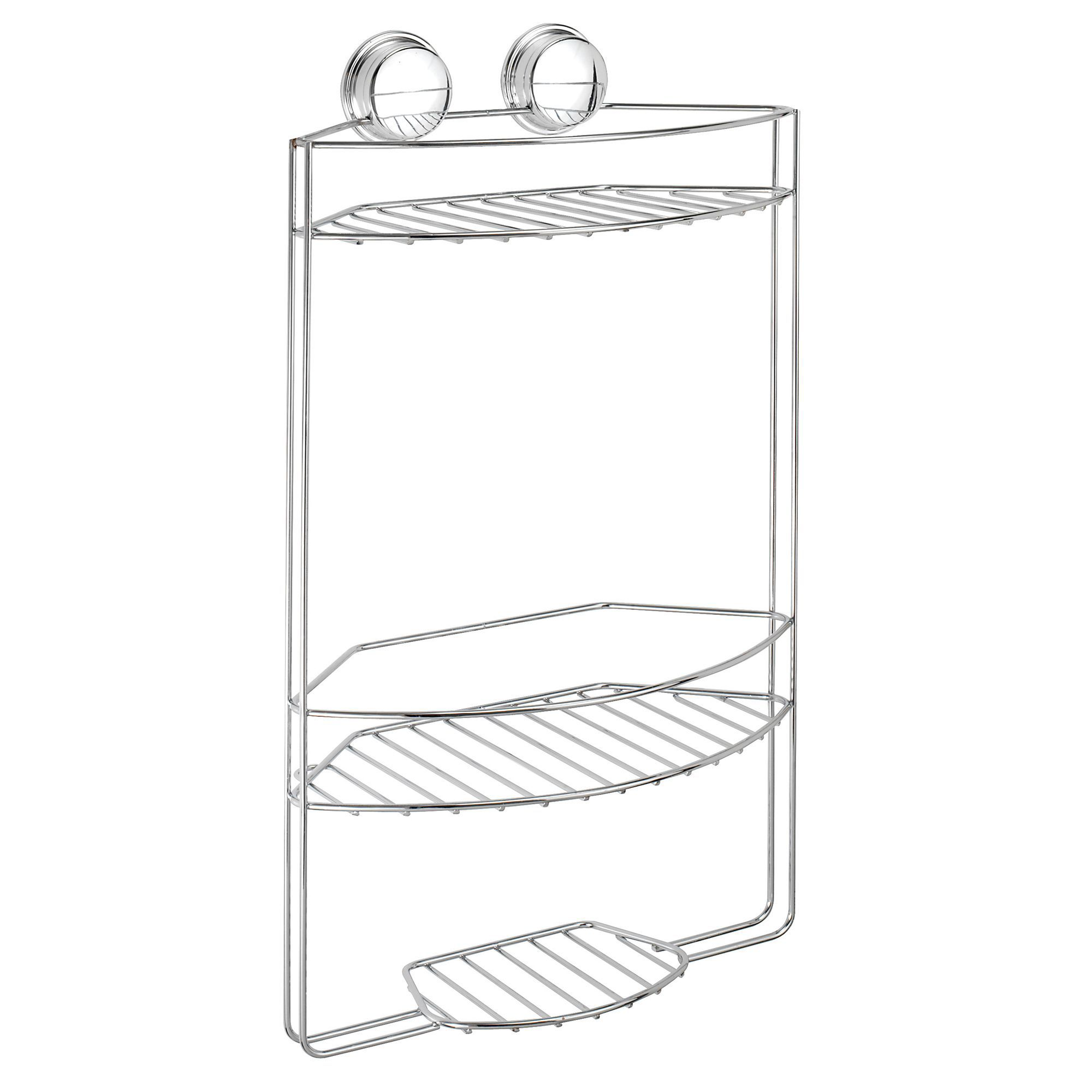 Croydex Twist \'n\' lock plus Chrome effect Steel Three tier storage ...