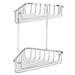 Croydex Chrome Mild Steel Medium Corner Basket